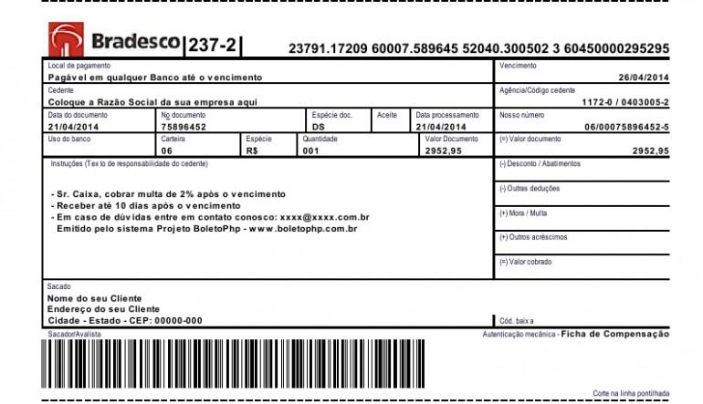Boletos - BRADESCO