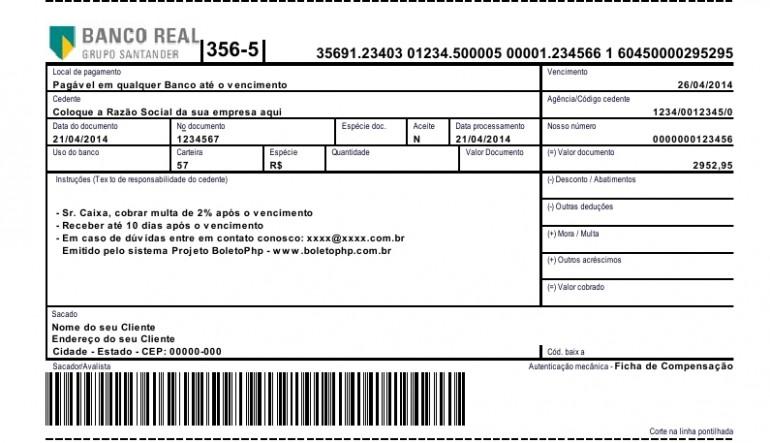 Boletos - Banco REAL
