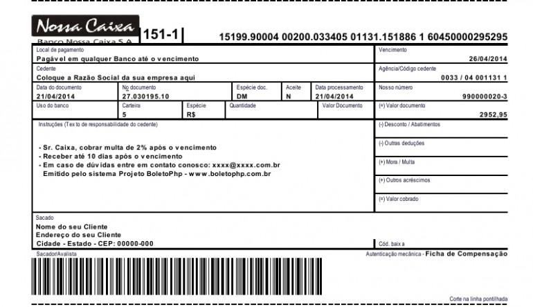 Boletos - NOSSA CAIXA